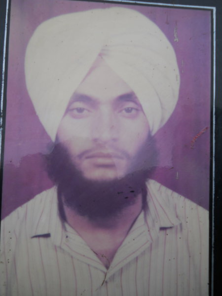 Photo of Lakhwinder Singh, victim of extrajudicial execution on July 13, 1991, in Beas, by Punjab Police