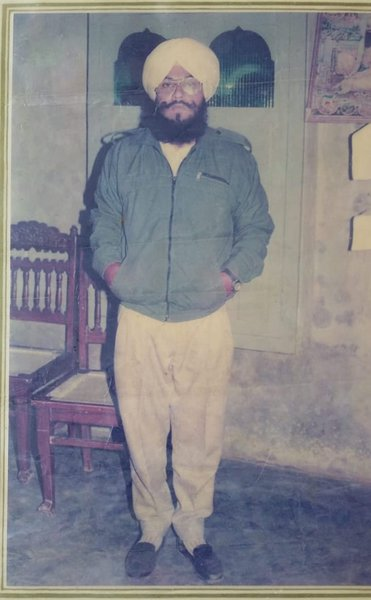 Photo of Kuldip Singh, victim of extrajudicial execution between May 1, 1992 and May 31,  1992, in Qadian, Gurdaspur, by Punjab Police; Border Security Force; Central Reserve Police Force