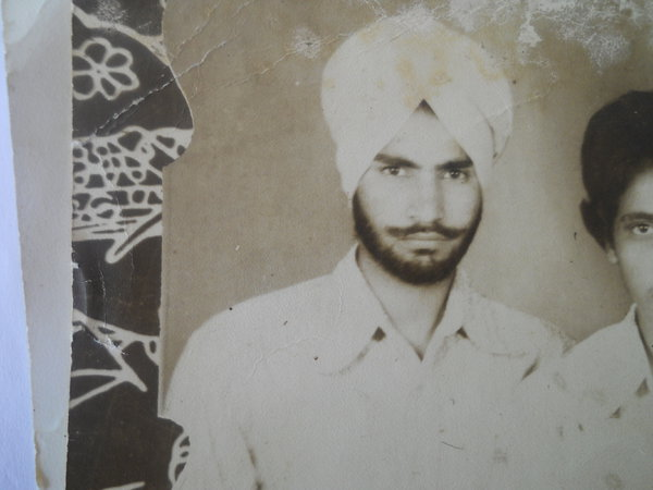 Photo of Harmohinder Singh, victim of extrajudicial execution between June 25, 1986 and June 26,  1986, in Dera Baba Nanak, by Punjab Police; Border Security Force