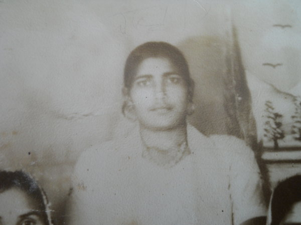 Photo of Jasbeer Kaur, victim of extrajudicial execution between June 25, 1986 and June 26,  1986, in Dera Baba Nanak, by Punjab Police; Border Security Force