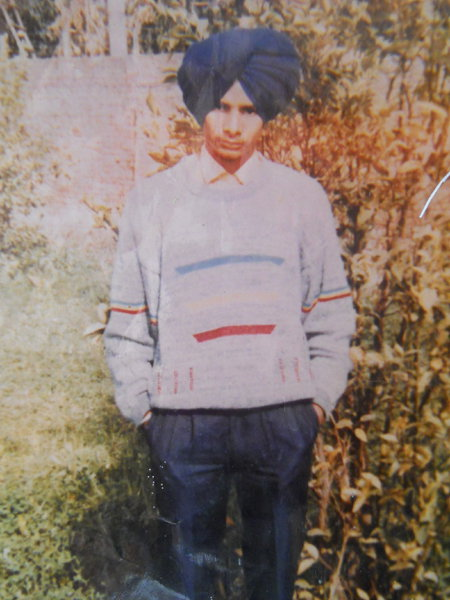 Photo of Baldev Singh, victim of extrajudicial execution on August 03, 1991, in Jhabal Kalan, by Punjab Police