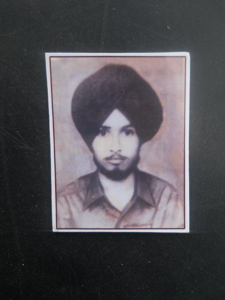 Photo of Manjeet Singh, victim of extrajudicial execution on October 3, 1987, in Ajnala, by Punjab Police