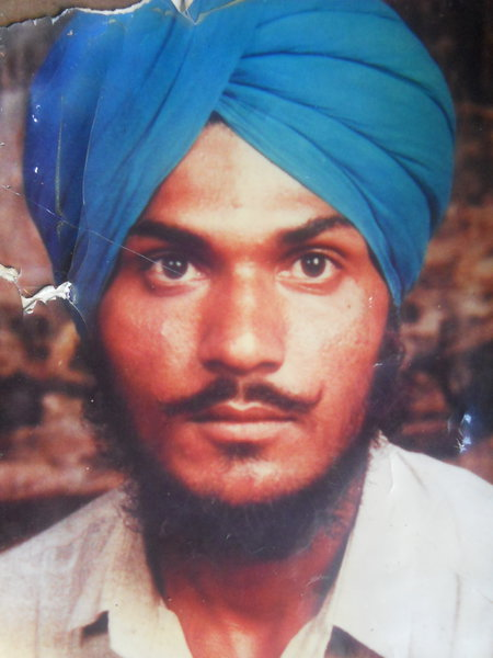 Photo of Gurbaj Singh, victim of extrajudicial execution on November 30, 1990, in Batala, by Punjab Police