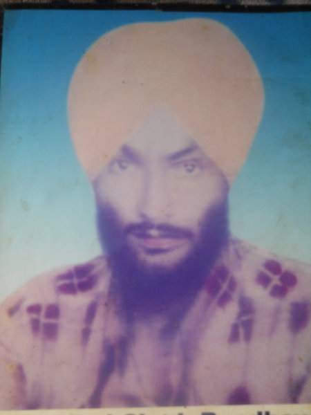 Photo of Gurbhej Singh, victim of extrajudicial execution between May 1, 1985 and June 30,  1985, in Patiala, by Punjab Police