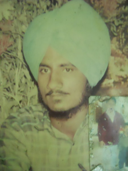 Photo of Narinder Singh, victim of extrajudicial execution between June 1, 1991 and June 30,  1991 by Punjab Police; Central Reserve Police Force, in Mehta, by Punjab Police