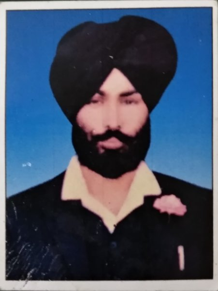 Photo of Mohinder Singh, victim of extrajudicial execution on October 16, 1991, in Batala, by Punjab Police