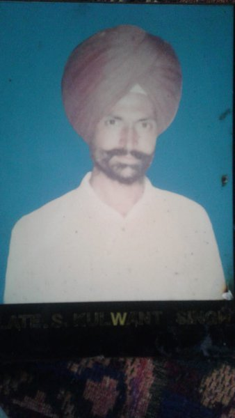 Photo of Kulwant Singh, victim of extrajudicial execution on August 14, 1989, in Chogawan, by Punjab Police