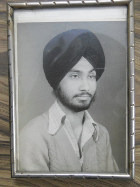 Photo of Parminder Singh, victim of extrajudicial execution on August 31, 1987, in Gurdaspur, by Border Security Force