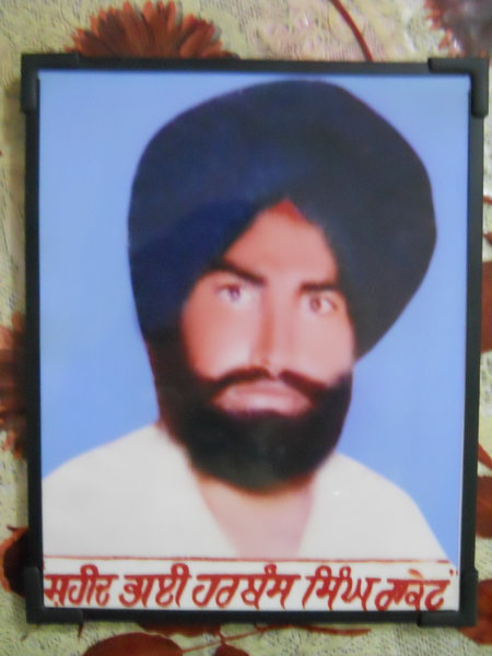 Photo of Harbans Singh, victim of extrajudicial execution on November 10, 1991Punjab Police