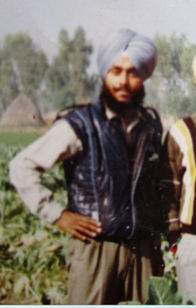Photo of Balwinder Singh, victim of extrajudicial execution on December 11, 1992, in Dhariwal, by Punjab Police