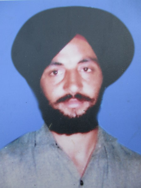 Photo of Bua Singh, victim of extrajudicial execution on November 12, 1992, in Batala, by Punjab Police