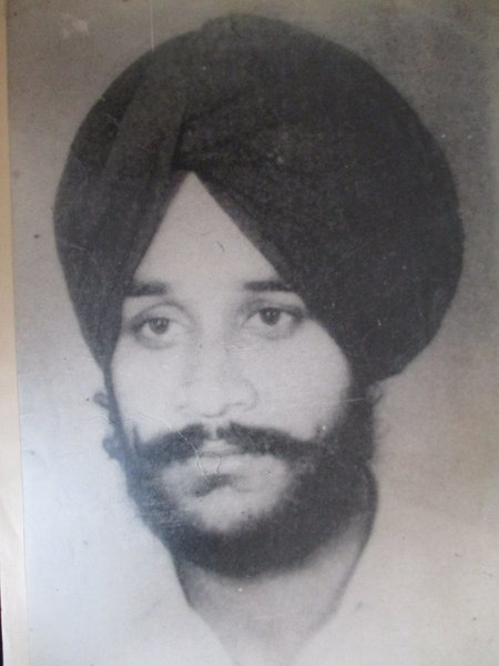 Photo of Jagdish Singh, victim of extrajudicial execution on April 12, 1989, in Kapurthala, by Punjab Police