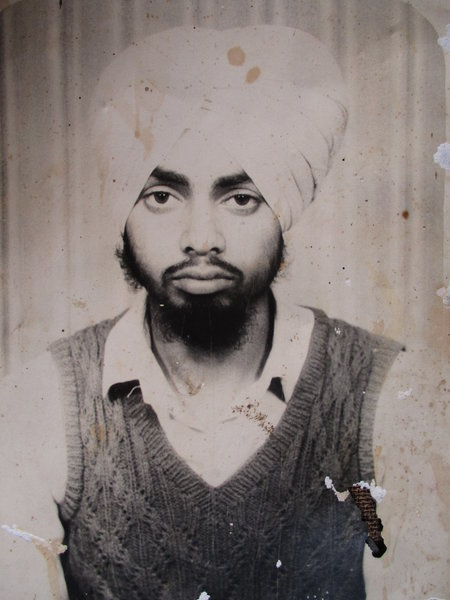 Photo of Surjit Singh, victim of extrajudicial execution on August 18, 1989, in Batala, by Punjab Police