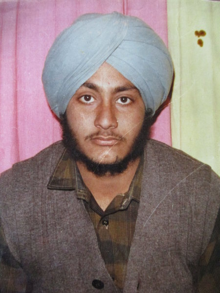 Photo of Jagdish Singh, victim of extrajudicial execution on January 30, 1990, in Sri Hargobindpur, by Punjab Police; Central Reserve Police Force