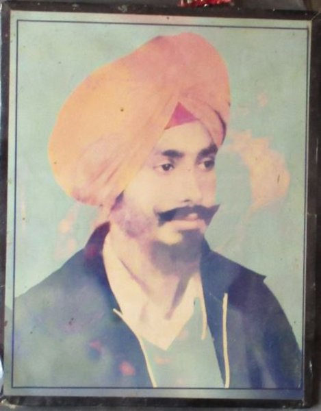 Photo of Karam Singh, victim of extrajudicial execution on February 27, 1987, in Batala BSF Camp,  by Border Security Force, in Batala BSF Camp, by Border Security Force