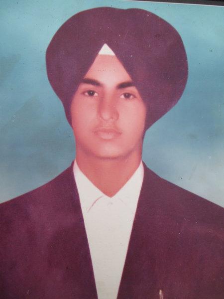 Photo of Baljinder Singh, victim of extrajudicial execution on August 13, 1989, in Batala, by Punjab Police