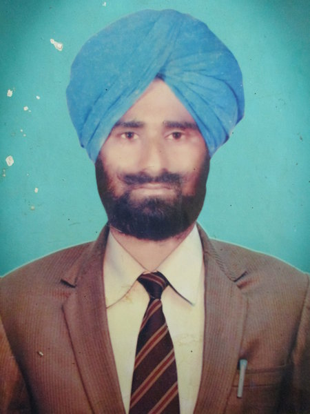 Photo of Prem Singh, victim of extrajudicial execution on June 26, 1991, in Qadian, by Punjab Police