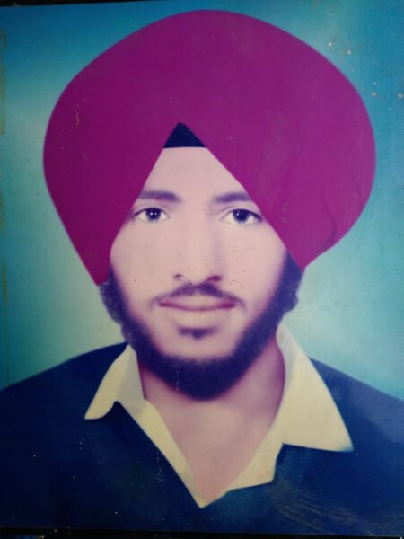 Photo of Lakhwinder Singh, victim of extrajudicial execution on December 09, 1991, in Batala, by Border Security Force