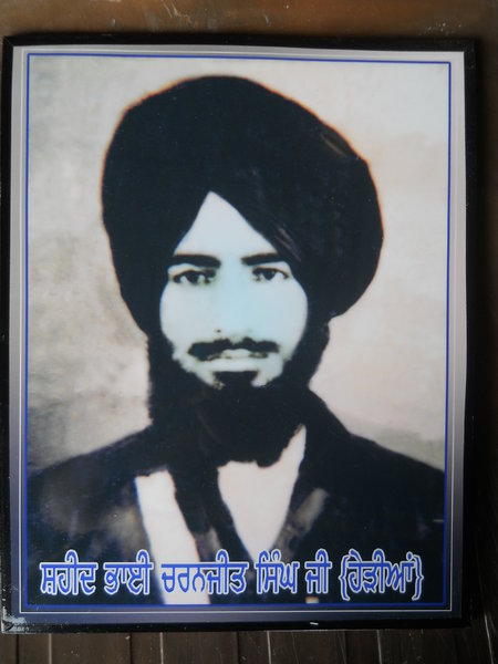 Photo of Charnjit Singh Jeeta, victim of extrajudicial execution on November 01, 1987, in Mahilpur, Hoshiarpur,  by Punjab Police; Central Reserve Police Force, in Garhshankar, by Punjab Police