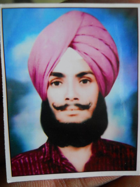 Photo of Charnjit Singh, victim of extrajudicial execution on May 23, 1989, in Hoshiarpur, by Punjab Police