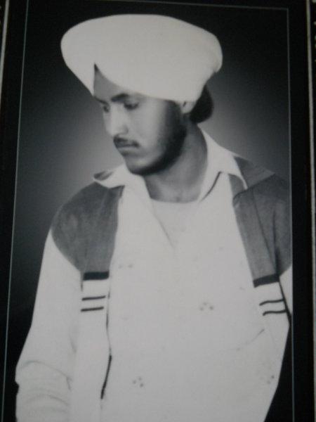 Photo of Sukhwinder Singh, victim of extrajudicial execution on June 27, 1987, in Banga,  by Punjab Police; Central Reserve Police Force, in Banga, by Punjab Police