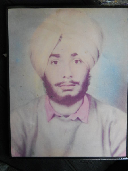 Photo of Gurlat Singh, victim of extrajudicial execution between September 15, 1991 and September 16,  1991, in Mahilpur, Garhshankar, by Punjab Police