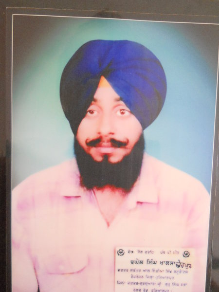 Photo of Baghel Singh, victim of extrajudicial execution between September 7, 1992 and September 12,  1993, in Hoshiarpur CIA Staff,  by Criminal Investigation Agency, in Hoshiarpur, by Unknown type of security forces