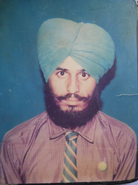 Photo of Ajit Singh, victim of extrajudicial execution on August 22, 1992, in Dasua,  by Black cat, in Hoshiarpur CIA Staff, Hariana, by Punjab Police; Criminal Investigation Agency