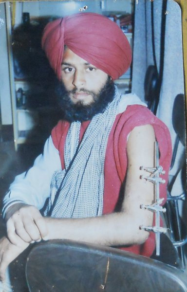Photo of Paramjit Singh, victim of extrajudicial execution on January 17, 1993, in Dasua, by Punjab Police