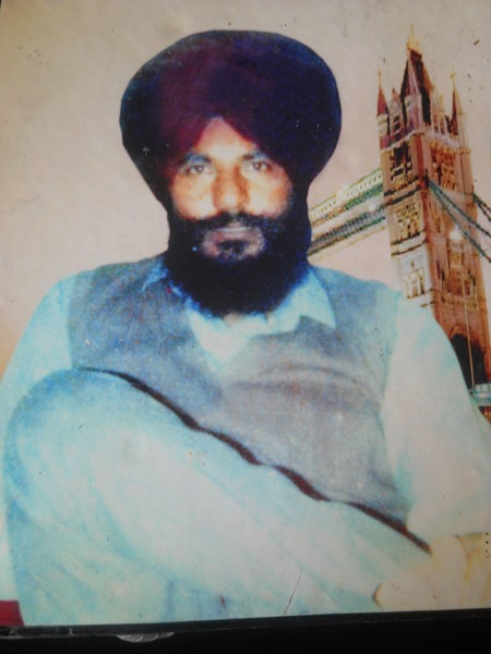 Photo of Rattan Singh, victim of extrajudicial execution on November 23, 1987, in Beas Pind, by Punjab Police