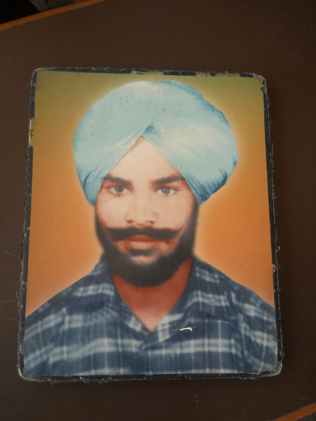 Photo of Jaspal Singh, victim of extrajudicial execution on September 26, 1989, in Bhogpur, by Punjab Police