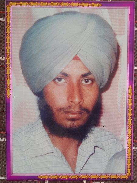 Photo of Sarbjit Singh, victim of extrajudicial execution on September 11, 1987, in Amritsar, by Punjab Police