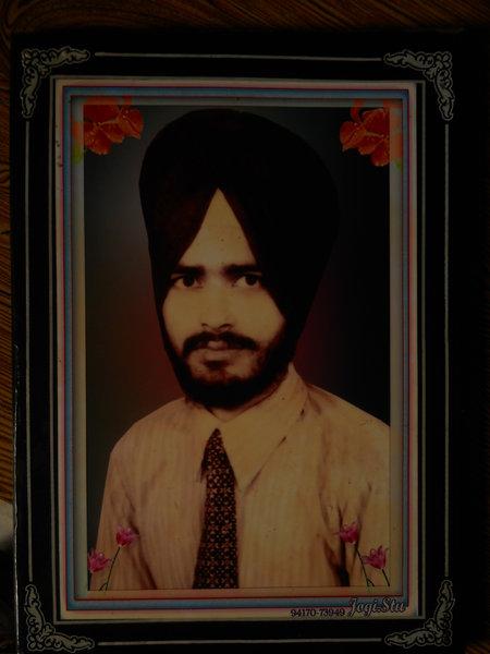 Photo of Roshan Singh, victim of extrajudicial execution on May 23, 1989, in Hoshiarpur CIA Staff, Hoshiarpur,  by Punjab Police; Criminal Investigation Agency, in Hoshiarpur, by Punjab Police