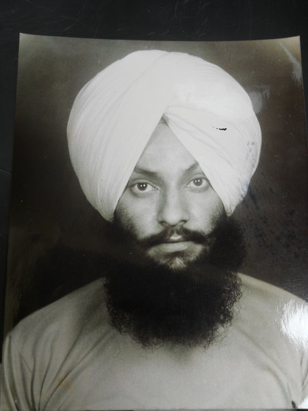 Photo of Paramjit Singh, victim of extrajudicial execution on November 2, 1987 by Punjab Police; Central Reserve Police Force