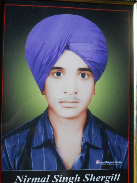 Photo of Nirmal Singh, victim of extrajudicial execution on February 28, 1991, in Mahilpur, by Punjab Police