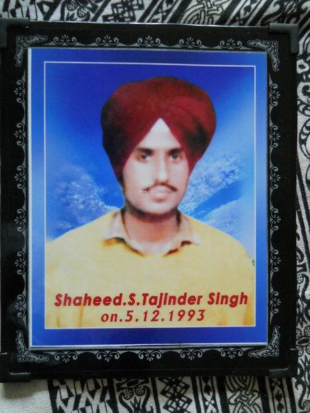 Photo of Tajinder Singh, victim of extrajudicial execution on December 05, 1993, in Dasua CIA Staff,  by Criminal Investigation Agency, in Dasua CIA Staff, Mukerian, by Punjab Police; Criminal Investigation Agency