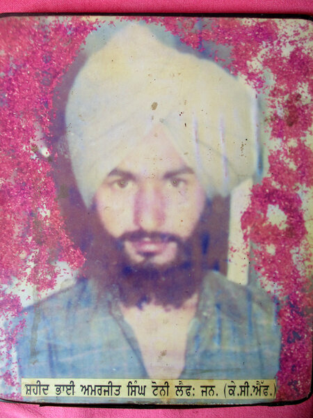 Photo of Amarjit Singh, victim of extrajudicial execution between March 1, 1988 and March 20,  1988, in Kapurthala, by Punjab Police