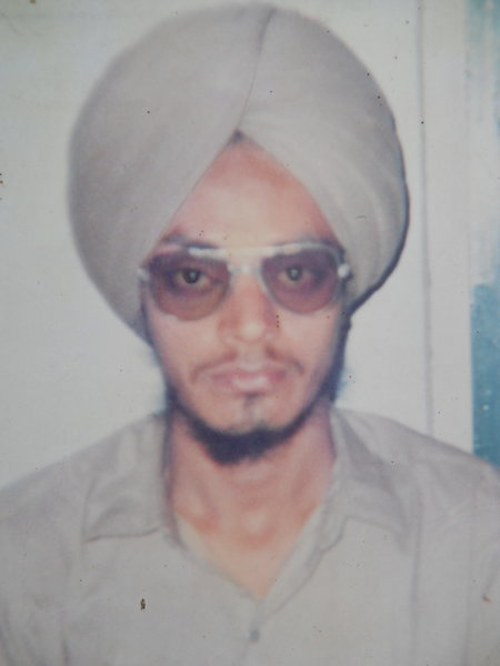 Photo of Amrik Singh, victim of extrajudicial execution between March 25, 1993 and April 10,  1993, in Hoshiarpur, by Punjab Police
