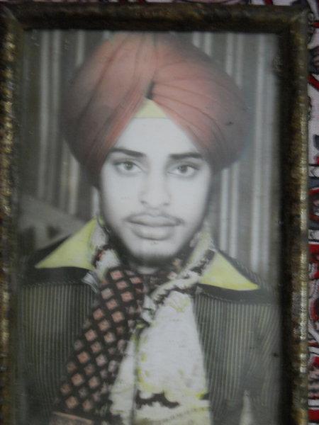 Photo of Ravinderjit Singh, victim of extrajudicial execution on June 24, 1989, in Jalandhar, Phagwara, Ludhiana,  by Punjab Police; Central Reserve Police Force, in Ludhiana, by Punjab Police