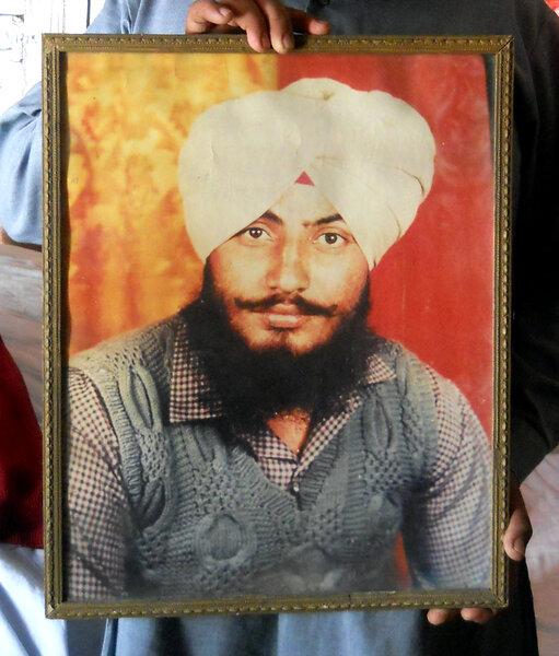 Photo of Ravinder Singh, victim of extrajudicial execution on June 11, 1988, in Jalandhar, by Punjab Police