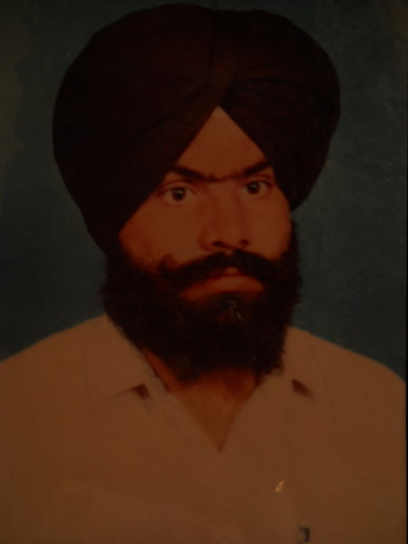 Photo of Gurnek Singh, victim of extrajudicial execution on March 25, 1989, in Mahilpur, Garhshankar, by Punjab Police