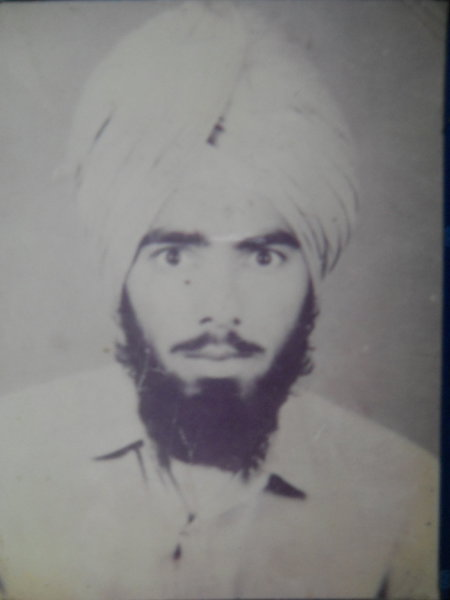 Photo of Gurdev Singh, victim of extrajudicial execution on September 7, 1988Punjab Police