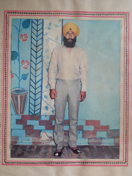 Photo of Paramjit Singh, victim of extrajudicial execution on June 11, 1987, in Hoshiarpur, by Punjab Police; Central Reserve Police Force; Army
