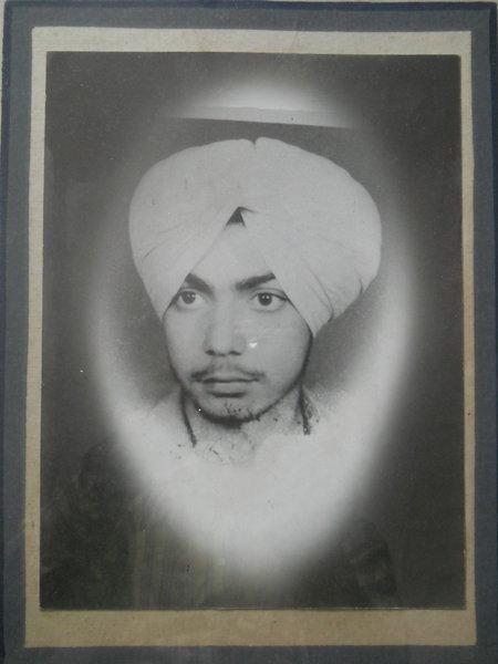 Photo of Balveer Singh, victim of extrajudicial execution on November 27, 1987, in Jalandhar, by Punjab Police