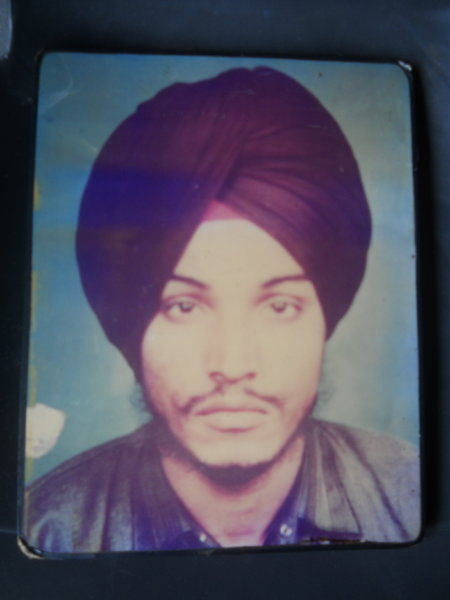 Photo of Avtar Singh, victim of extrajudicial execution between June 30, 1989 and July 1,  1989, in Jalandhar, by Punjab Police