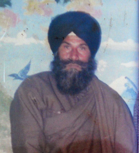 Photo of Mota Singh, victim of extrajudicial execution between March 31, 1990 and April 1,  1990, in Firozpur CIA Staff, by Punjab Police