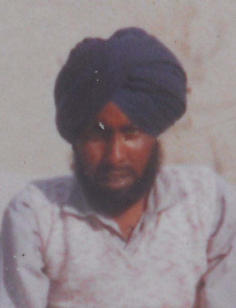 Photo of Kuldeep Singh, victim of extrajudicial execution on March 16, 1991, in Moga, by Punjab Police