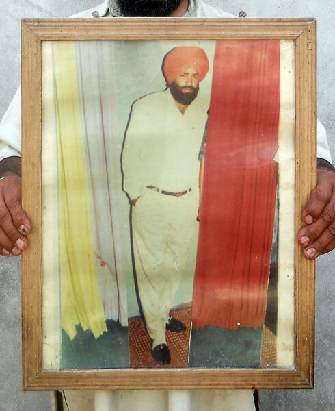 Photo of Kulwant Singh, victim of extrajudicial execution on April 16, 1991, in Zira, by Punjab Police