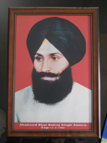 Photo of Balraj Singh, victim of extrajudicial execution on April 15, 1989, in Nurmahal, by Punjab Police