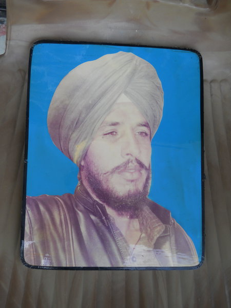 Photo of Gurdev Singh, victim of extrajudicial execution on July 03, 1987, in Jalandhar, Kapurthala, by Punjab Police